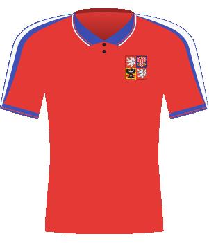 Koszulka reprezentacji Czech z 1997 roku.