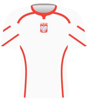 Koszulka reprezentacji Polski z 1996 roku.
