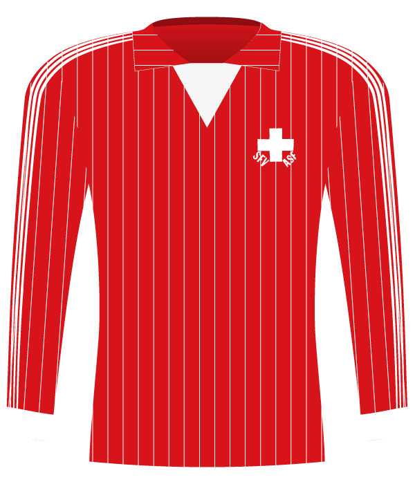 Koszulka Szwajcarii z 1984 roku.