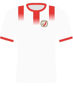 Koszulka Widzewa Łódź (1996) logo na białym tle
