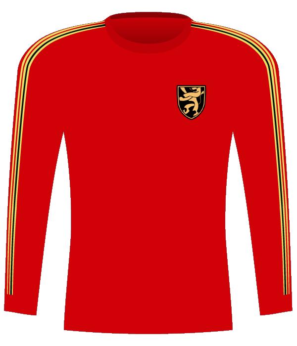 Koszulka Belgii z 1980 roku.