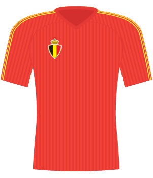Koszulka Belgii z 1990 roku.
