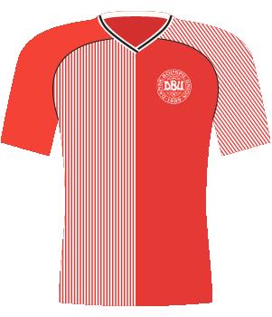 Koszulka Danii z 1986 roku.