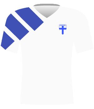 Koszulka Finlandii z 1992 roku.
