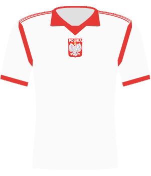 Koszulka Polski z 1990 roku.