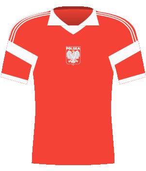 Koszulka Polski z el. ME 1992.