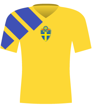 Koszulka Szwecji z 1992 roku.