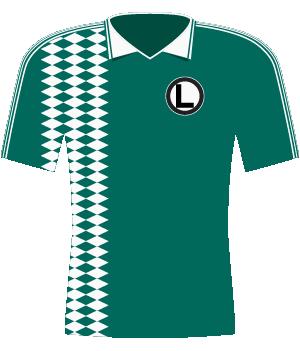 Koszulka Legii z 1995 roku (9 z 10 meczów Ligi Mistrzów)