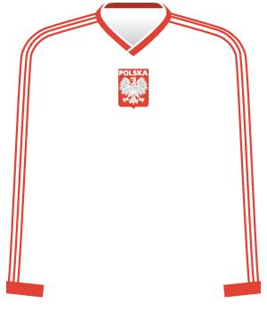 Koszulka reprezentacji Polski m.in. z 1987 roku