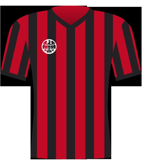 Koszulka Eintrachtu Frankfurt z 1992 roku (mecze z Widzewem).