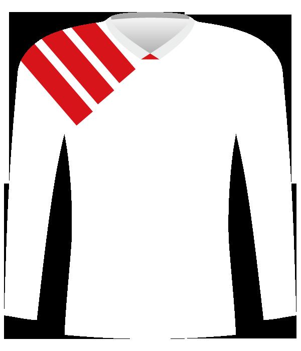 Koszulka Widzewa Łódź z 1992 roku (mecz z Eintrachtem u siebie).