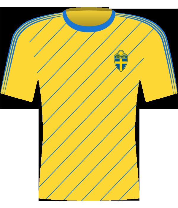 Koszulka Szwecji z 1985 roku.