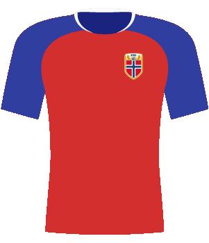 Koszulka Norwegii U-17 z 2020 roku