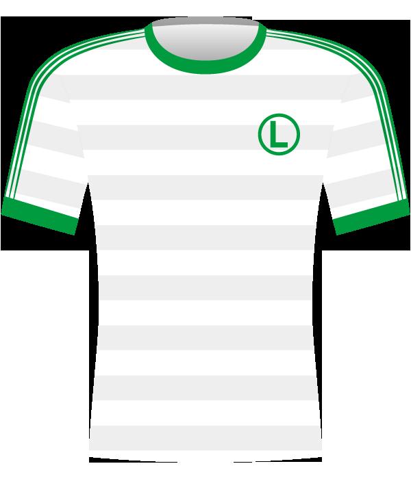 Koszulka Legii Warszawa z 1990 roku.