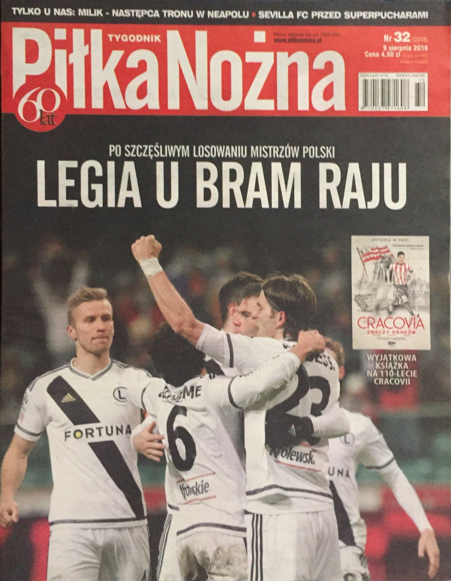 Piłka Nożna po meczu Legia - AS Trenczyn 0-0 (03.08.2016).