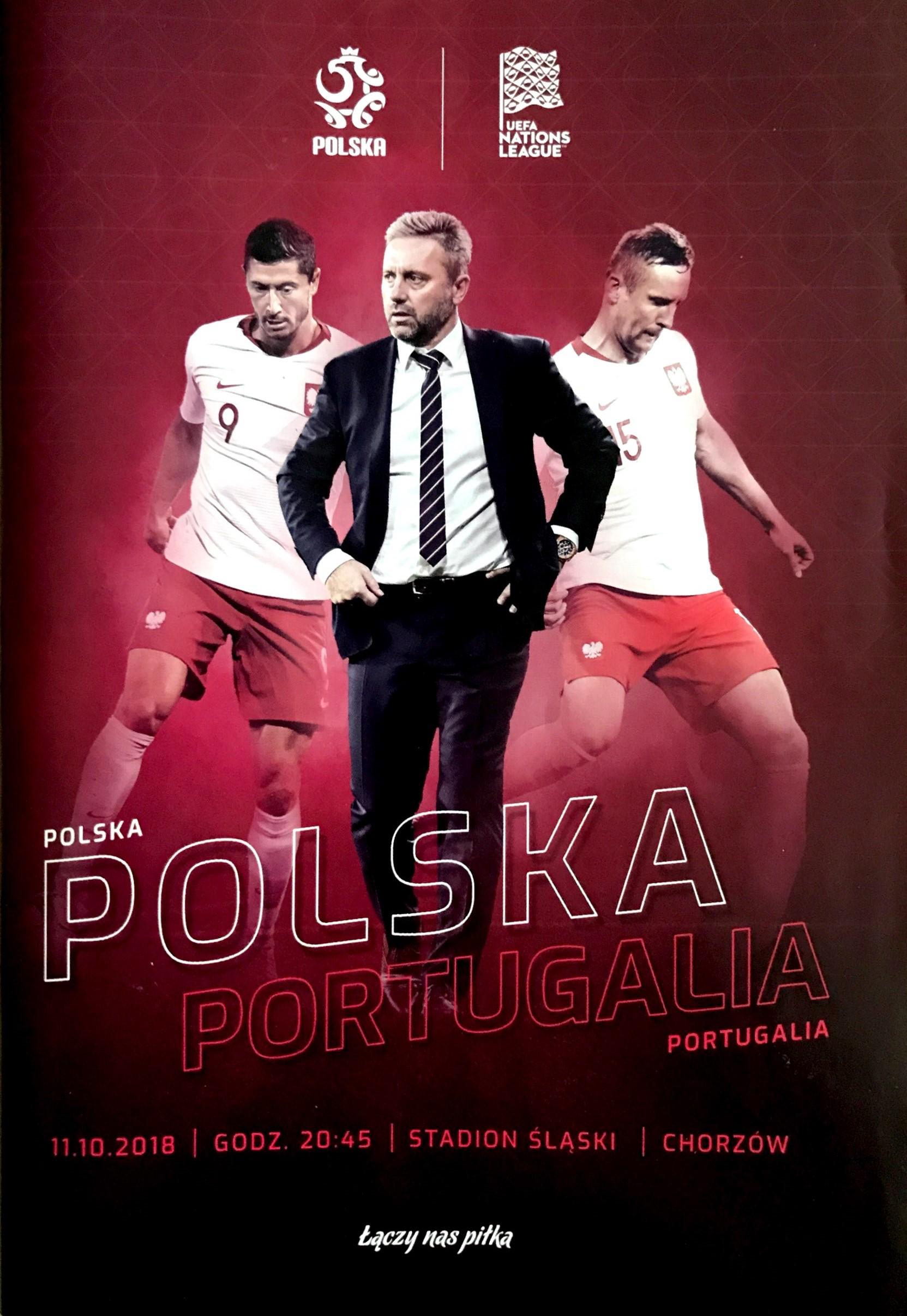 Program meczowy Polska – Portugalia 2:3 (11.10.2018).