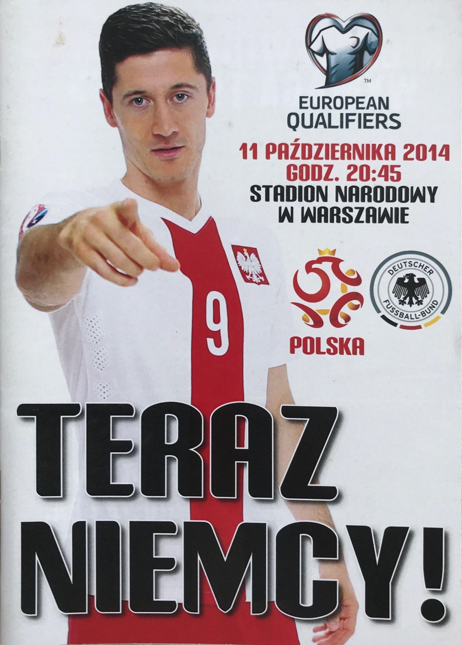 Program meczowy Polska - Niemcy (11.10.2014)