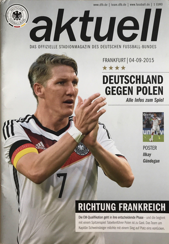 Program meczowy Niemcy - Polska 3:1 (04.09.2015).