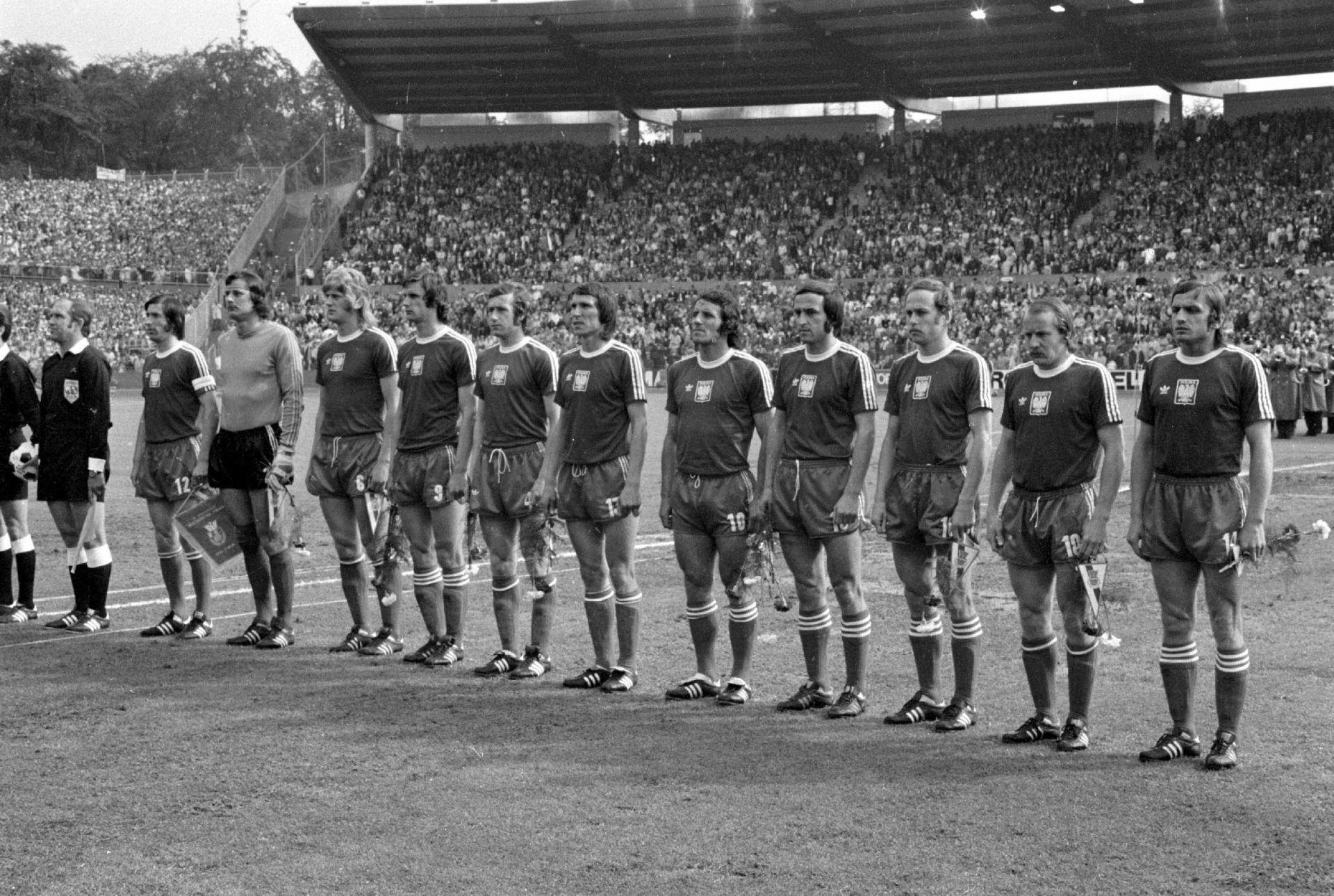 Reprezentacja Polski przed meczem z RFN (03.07.1974)