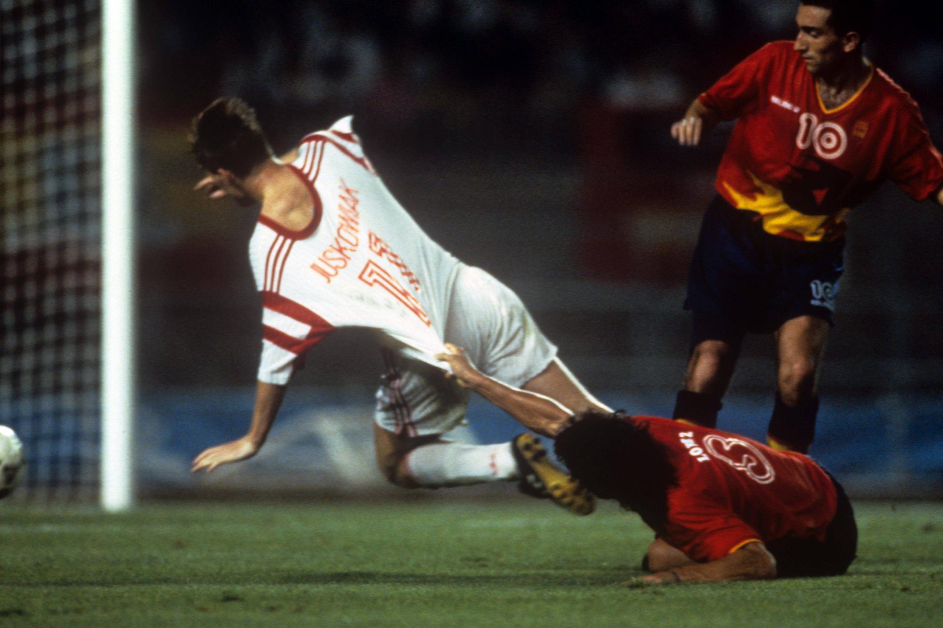 Finał olimpijski w Barcelonie.