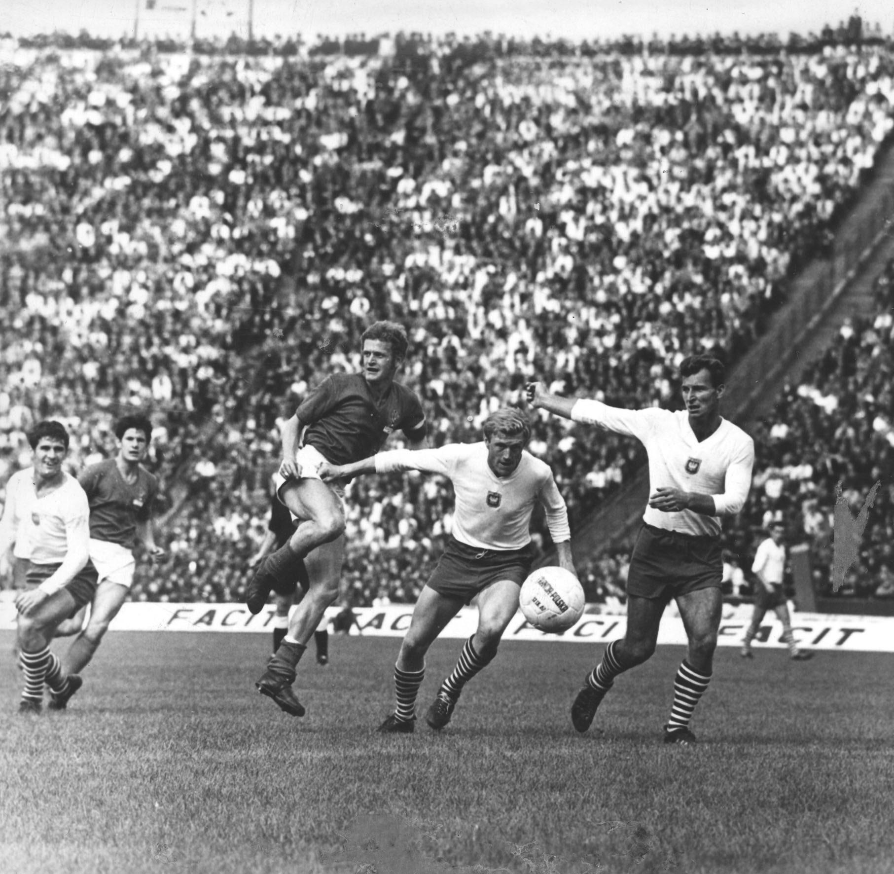 Mecz Polska - Francja w eliminacjach Euro 1968.