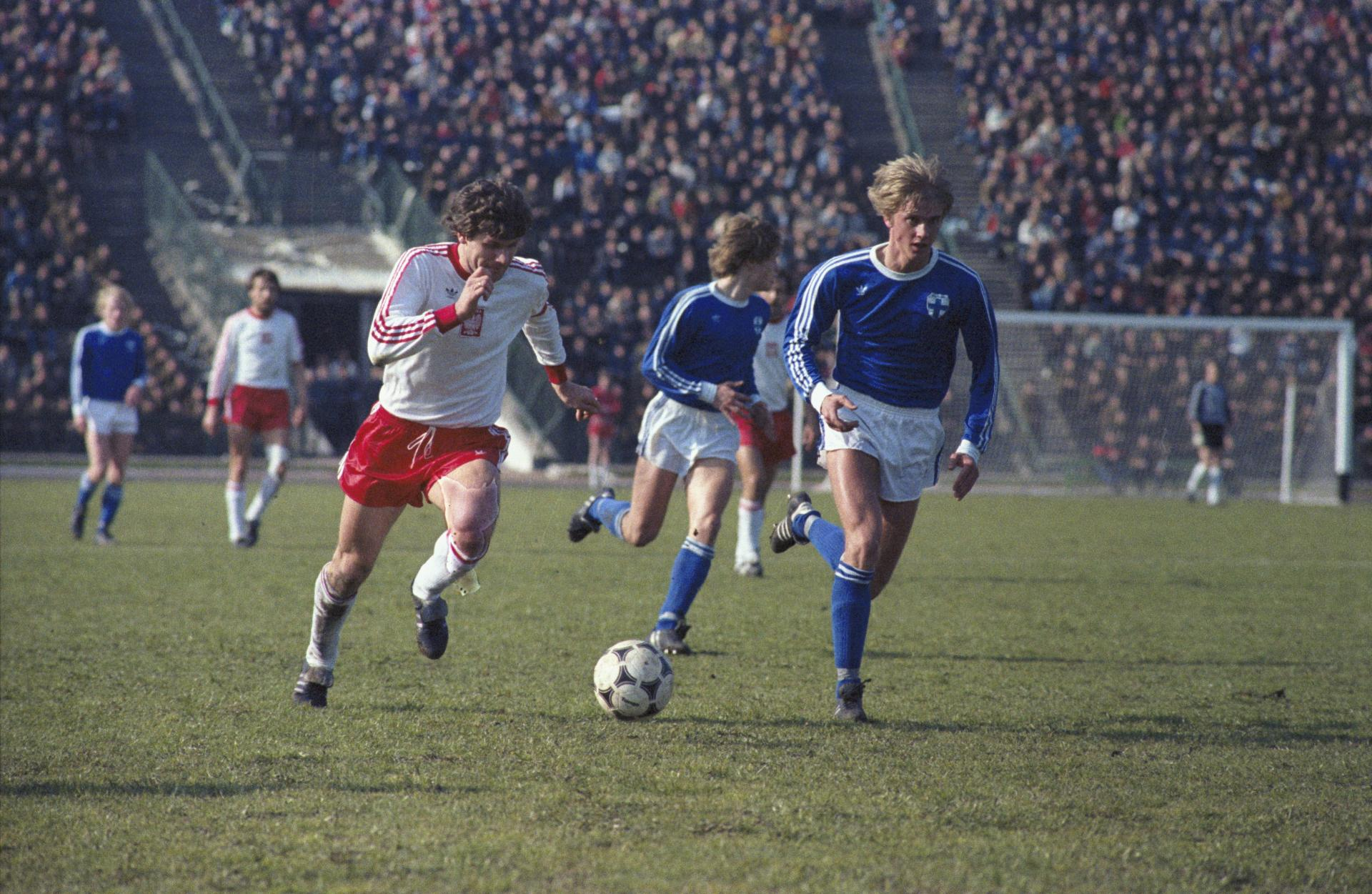 Mecz Polska - Finlandia w eliminacjach Euro 1984.