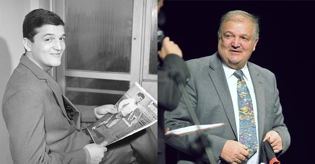 Hubert Kostka w 1962 i 2012 roku.