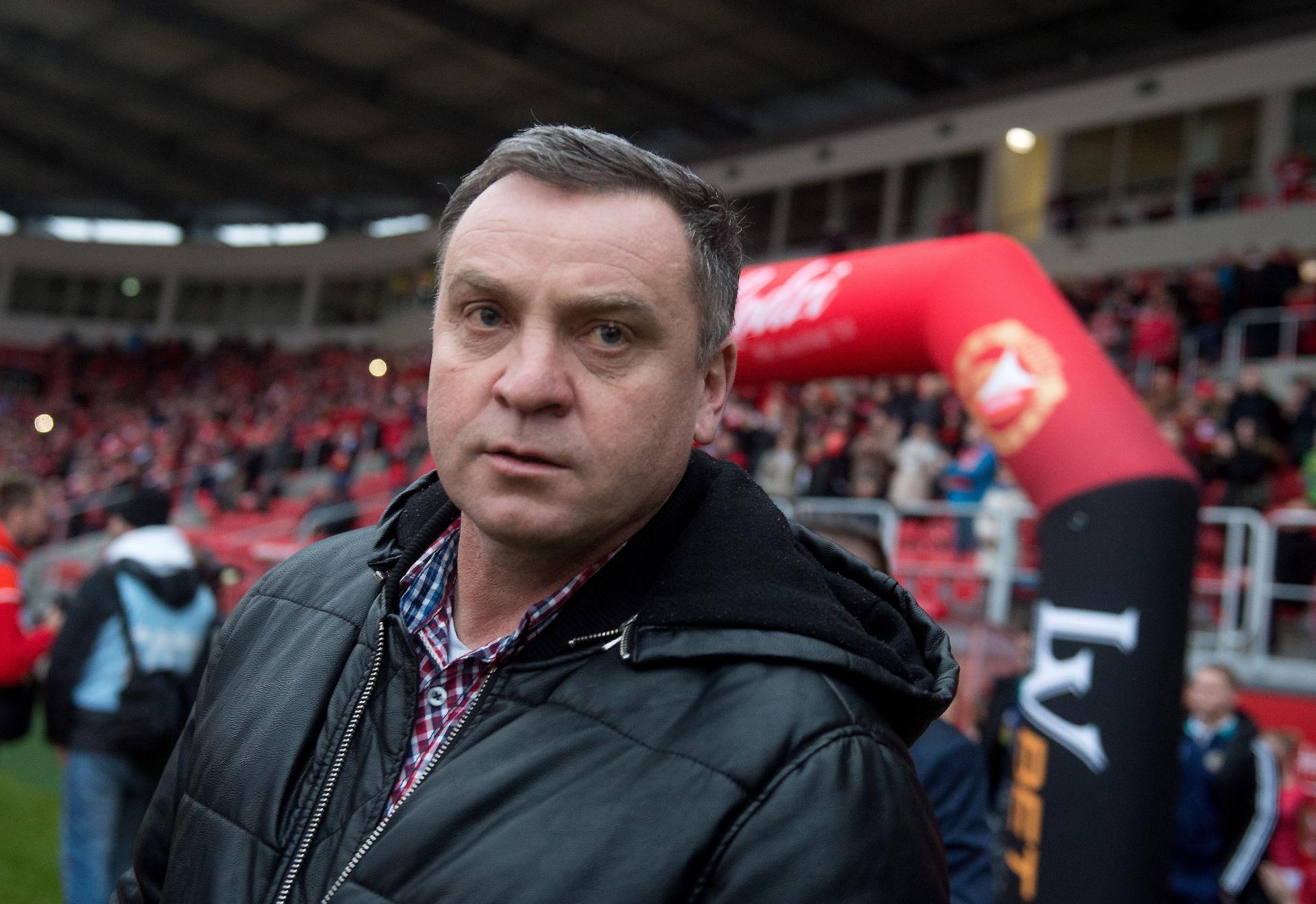 Marek Koniarek podczas meczu Widzew Łódź - Motor Lubawa 2:0 (18.03.2017).