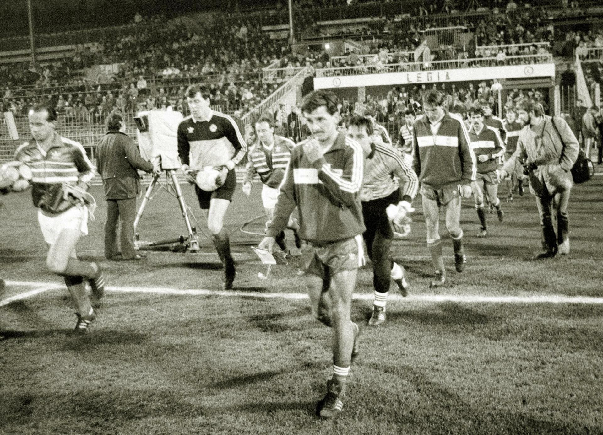 Zdjęcie z meczu Polska - Irlandia 1:0 (12.11.1986).