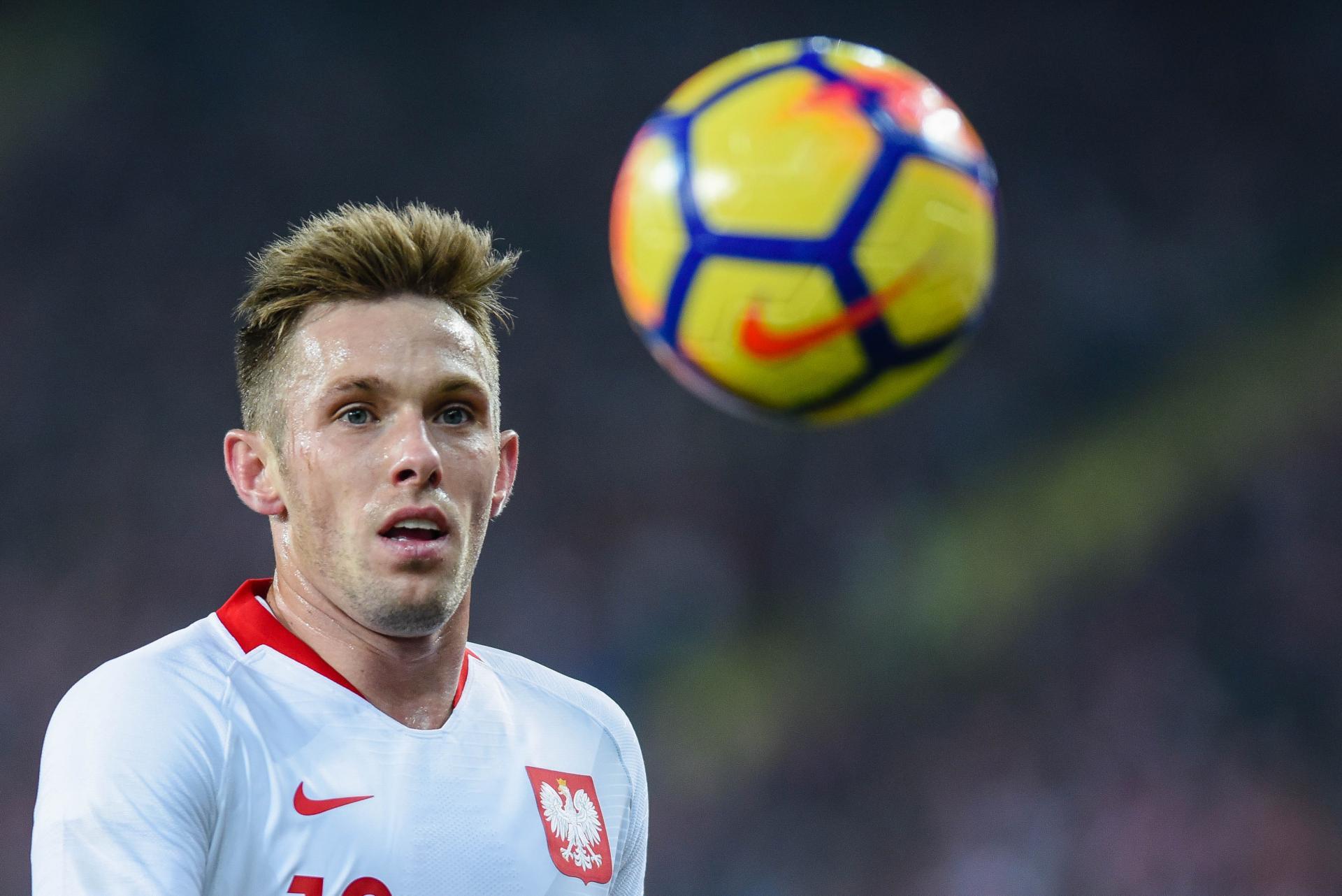 Maciej Rybus w barwach reprezentacji Polski