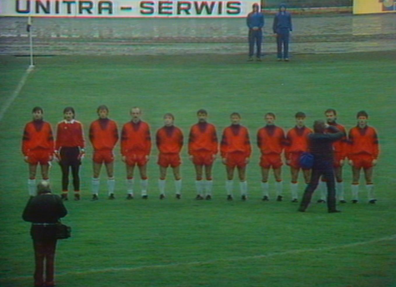 Olimpijska reprezentacja Polski przed meczem z Grecją w Rybniku.