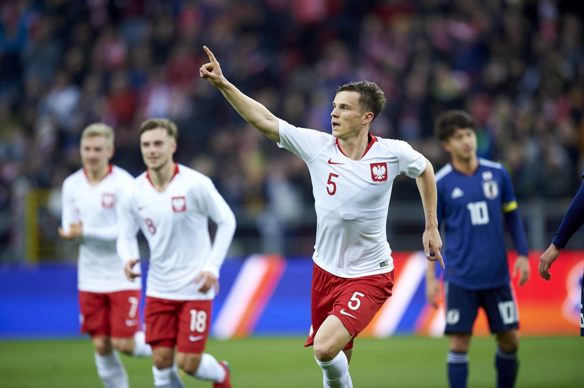 Serafin Szota podczas meczu Polska - Japonia 4:1 U-20 (21.03.2019).