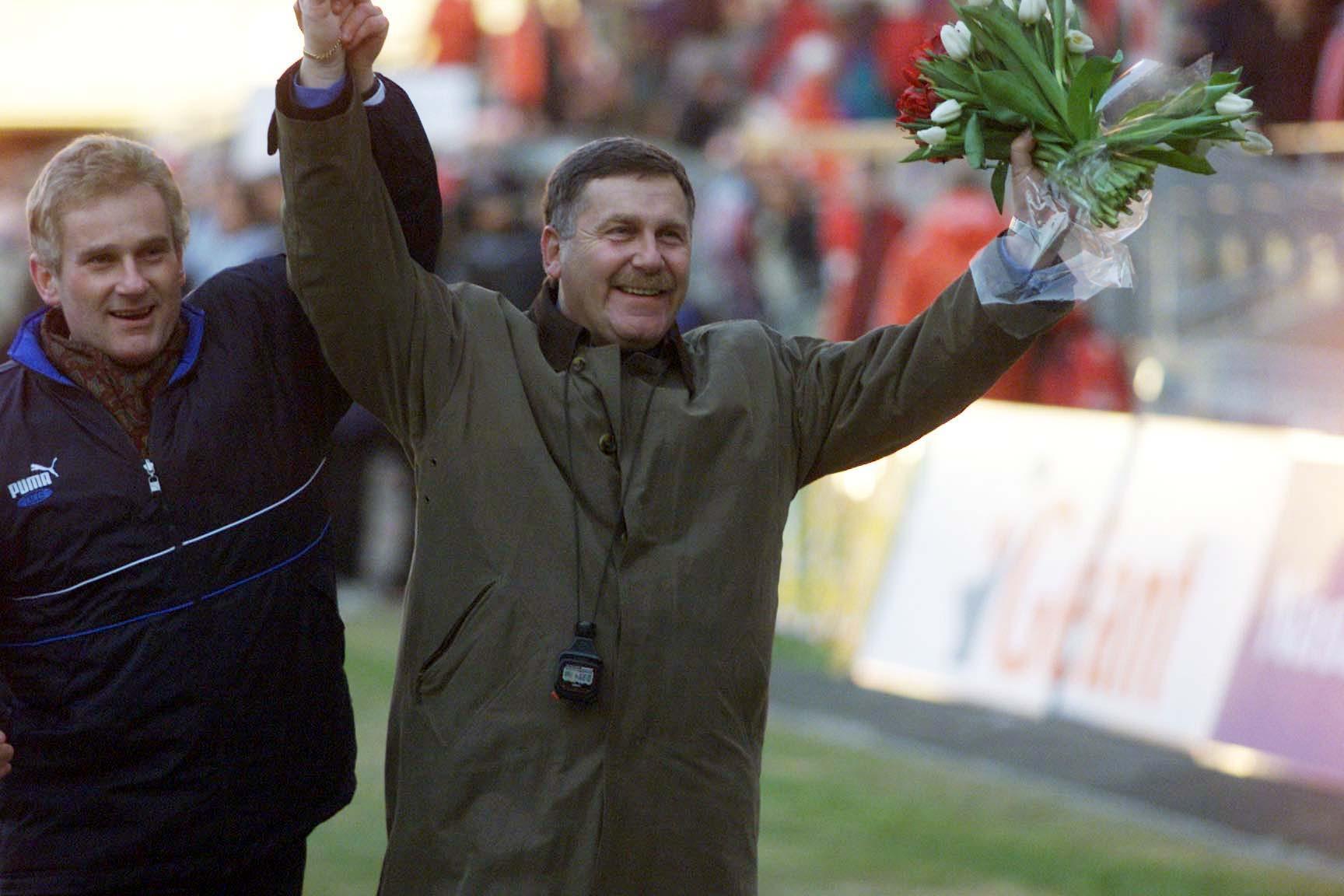 Jerzy Engel i Michał Listkiewicz