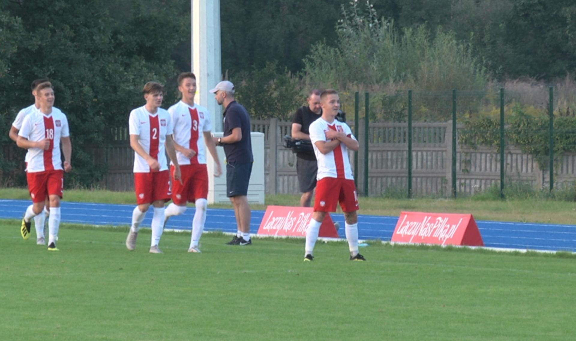 Michał Rakoczy podczas meczu Polska - Estonia 2:0 U-17 (07.09.2018).