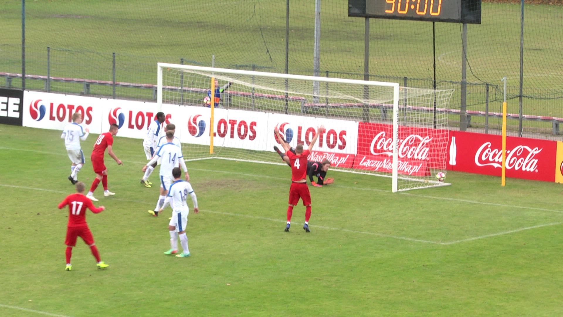 Reprezentacja Polski do lat 17 zdobyła zwycięską bramkę z Finlandią w doliczonym czasie. Mecz w Ząbkach, eliminacje mistrzostw Europy 2019.