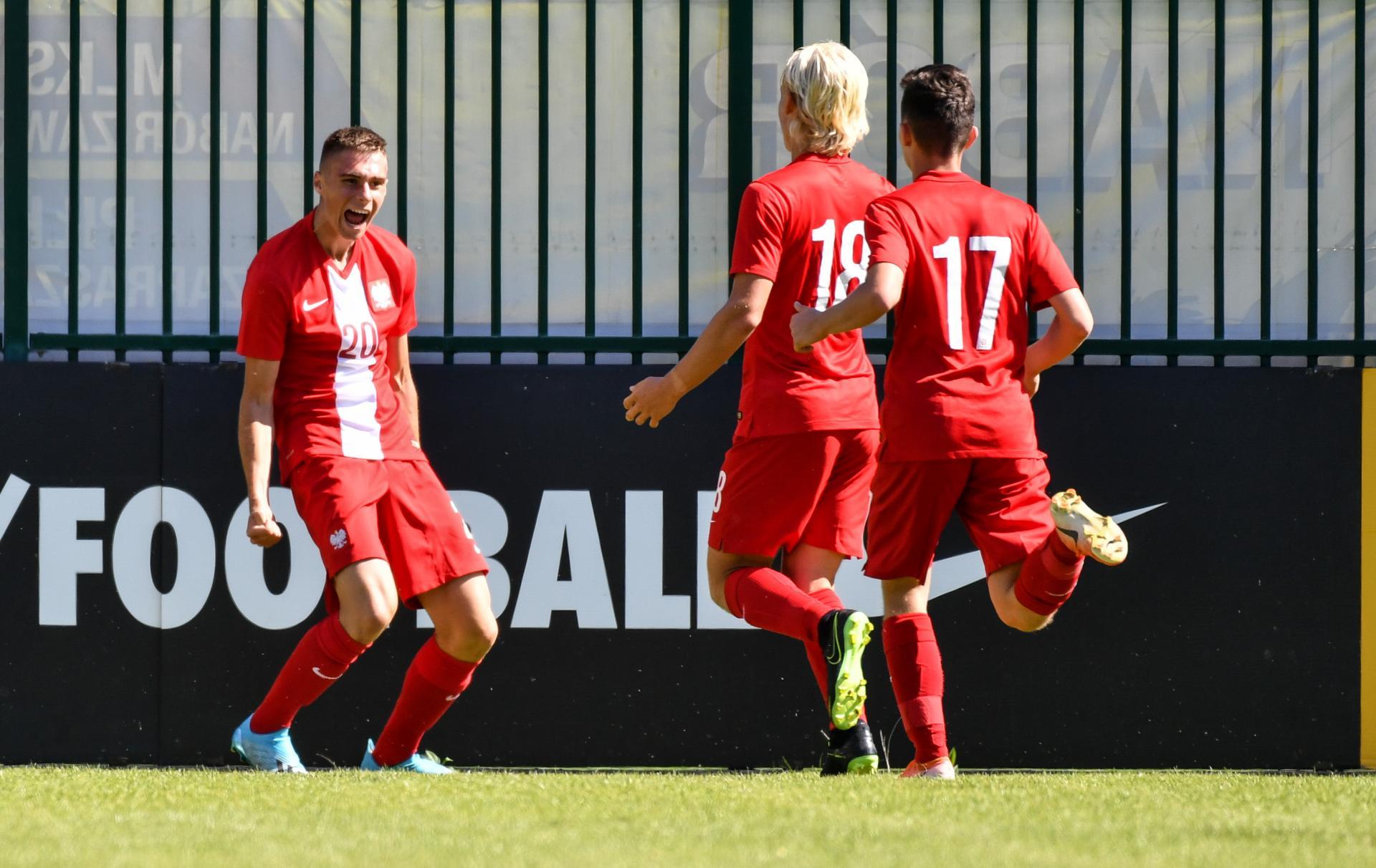 Szymon Włodarczyk podczas meczu Polska - Gruzja 2:1 U-17 (06.09.2019).