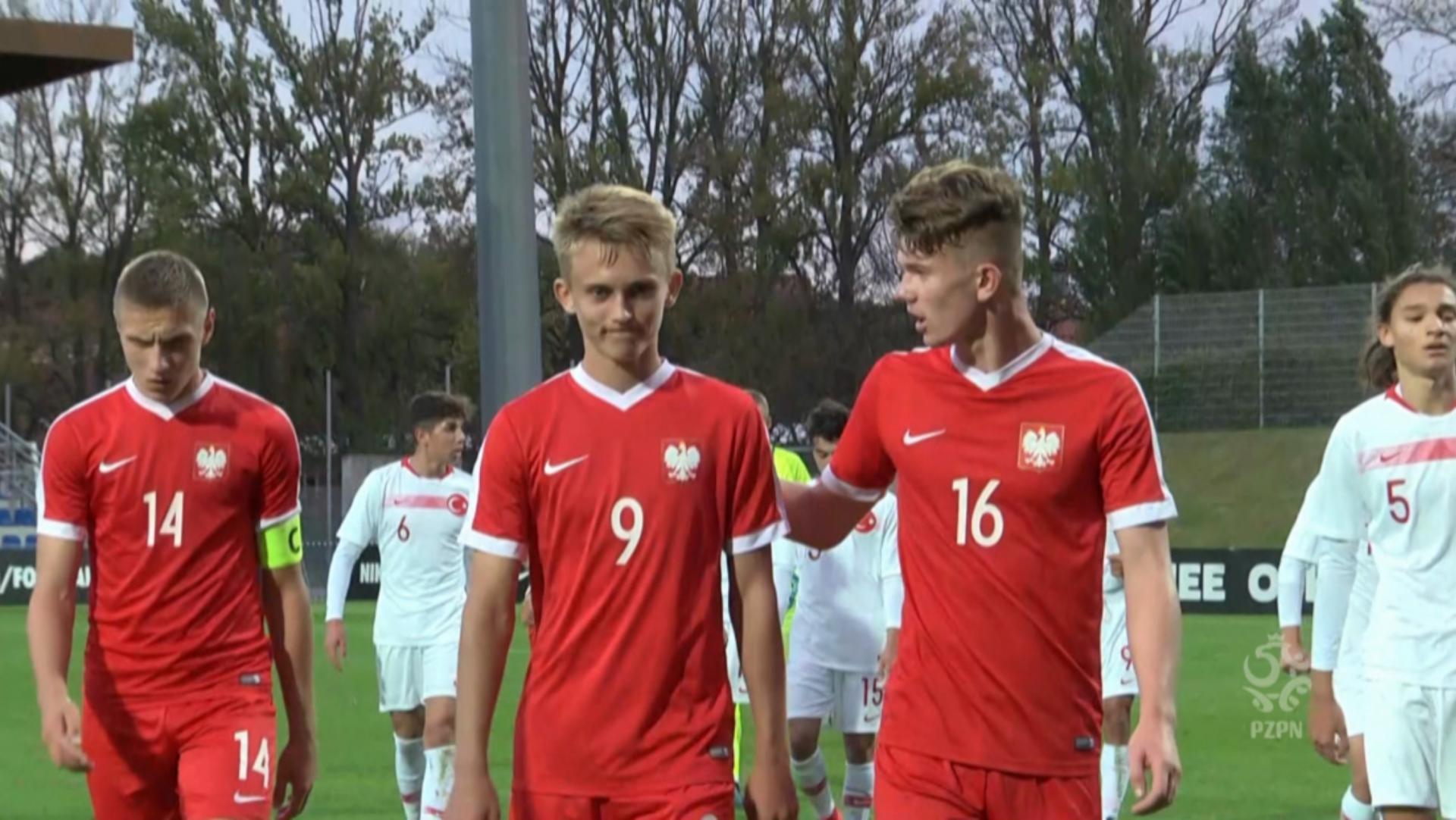 Norbert Pacławski podczas meczu Polska - Turcja 3:2 U-16 (19.09.2019).