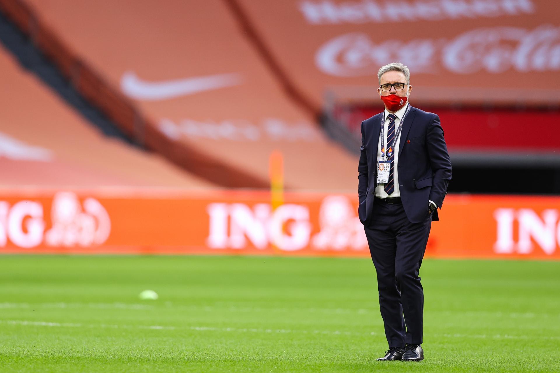 Jerzy Brzęczek przed meczem Holandia - Polska 1:0 (04.09.2020).