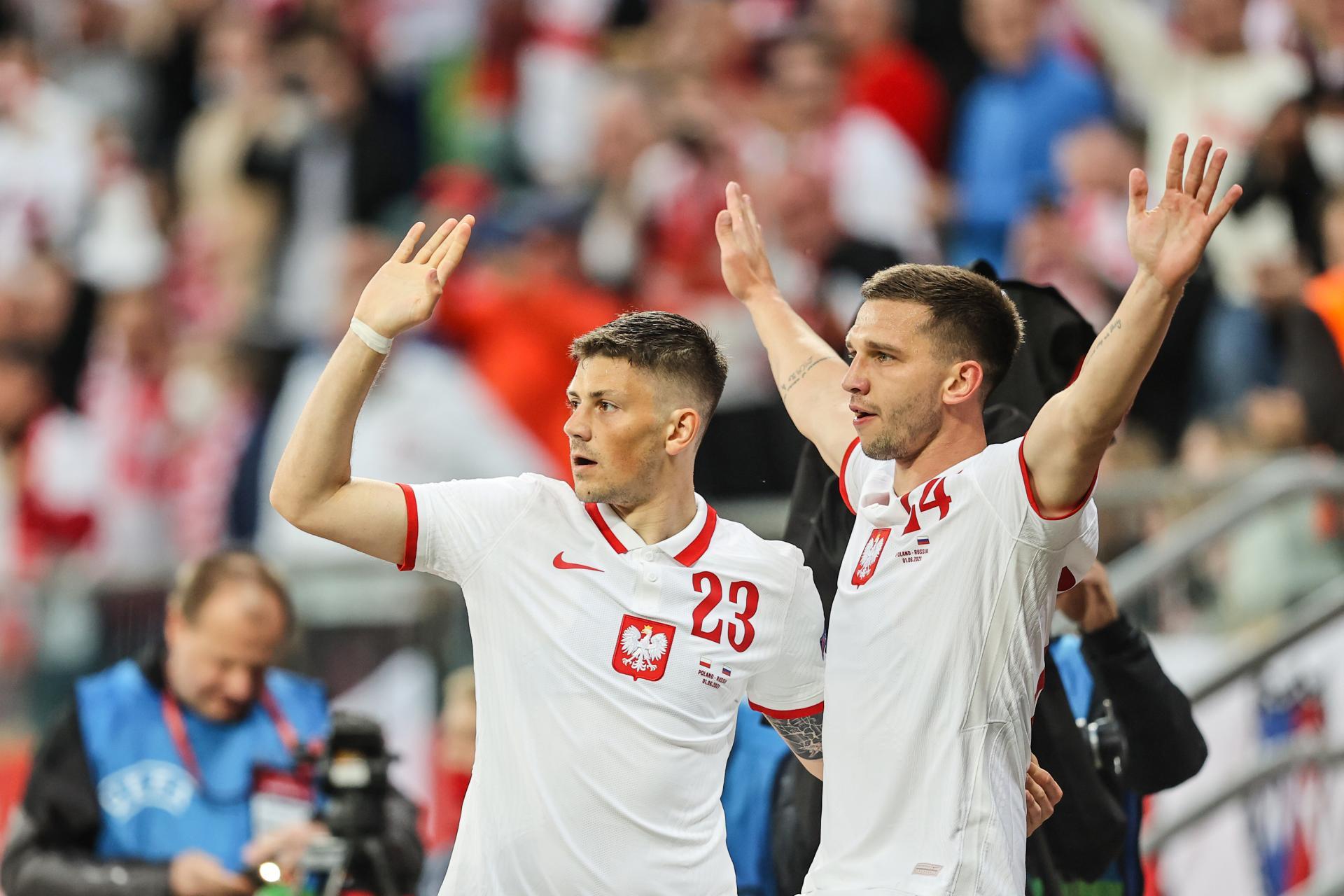 Polska - Rosja 1:1 (01.06.2021) Jakub Świerczok, Dawid Kownacki