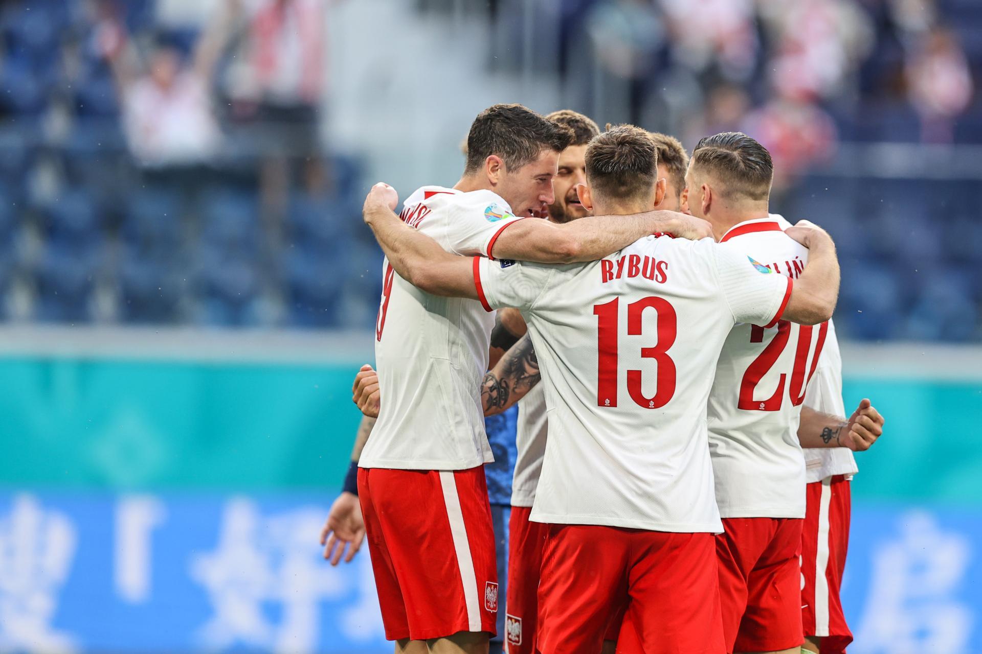 Polska - Słowacja 1:2 (14.06.2021) Radość Polaków po golu