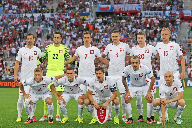 Reprezentacja Polski przed meczem z Portugalią.