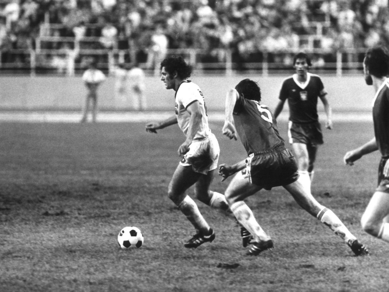 Akcja z meczu Polska - NRD 1:3.