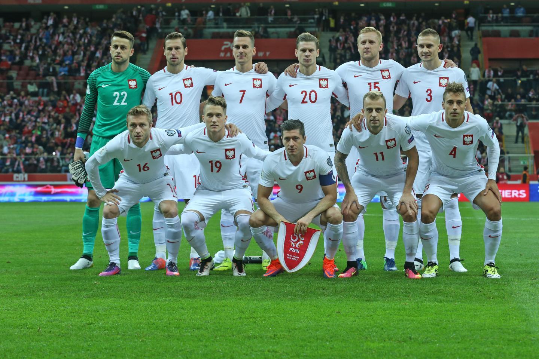 Wyjściowy skład Polski w meczu z Danią.