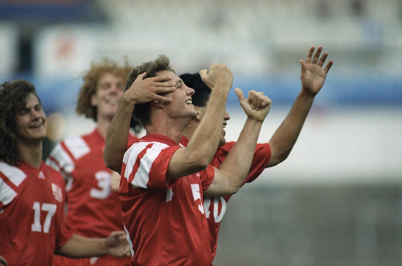 Radość Amerykanów po zdobyciu gola w meczu z Polską.