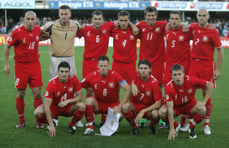 Reprezentacja Polski przed meczem z Finlandią w Helsinkach.