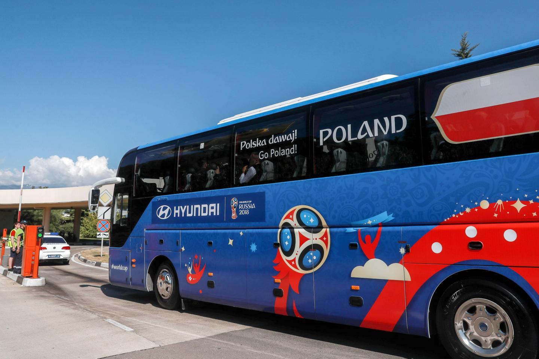 Autokar reprezentacji Polski.