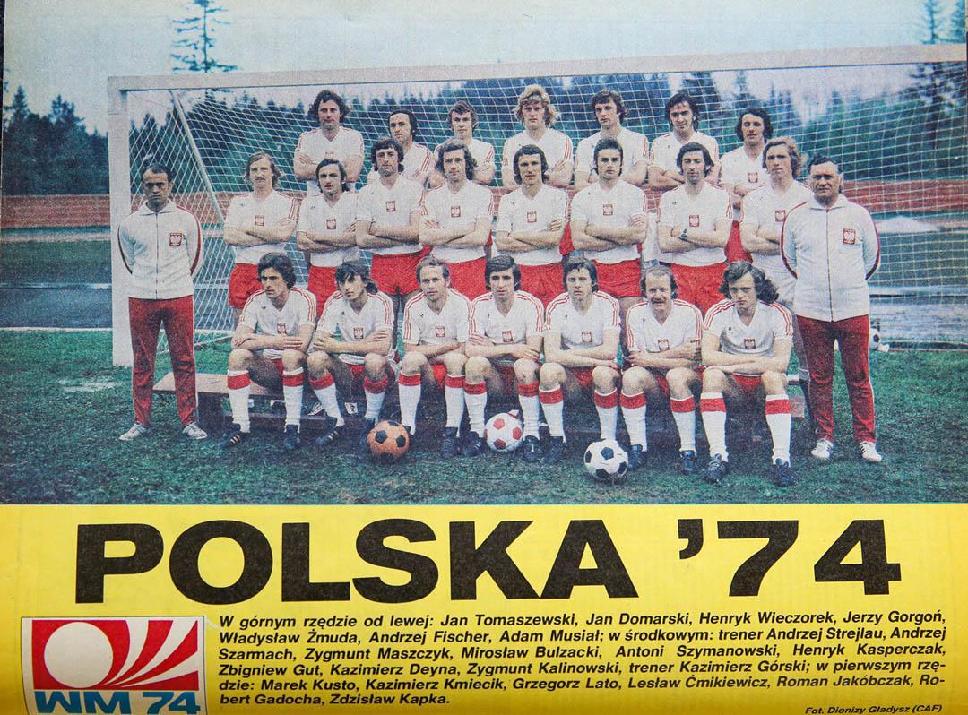 Zdjęcie z Piłki Nożnej - kadra reprezentacji Polski z MŚ 1974