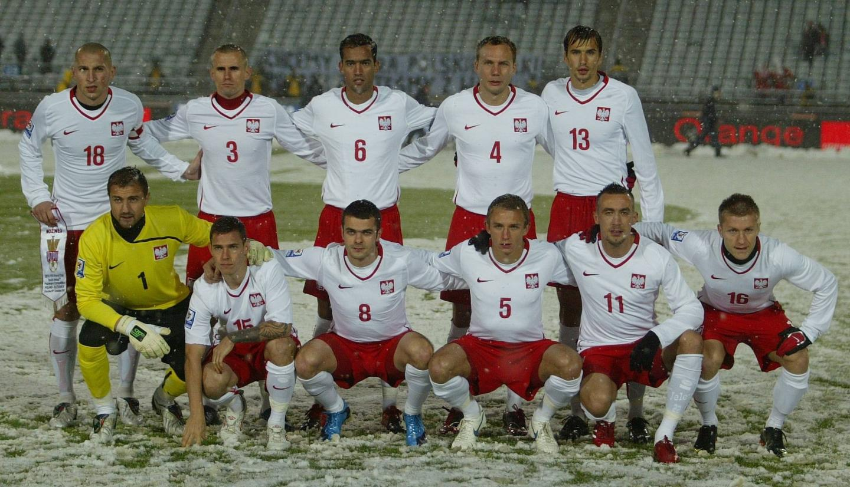 Reprezentacja Polski przed meczem ze Słowacją w Chorzowie.