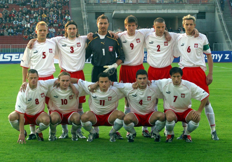 Reprezentacja Polski przed meczem z Węgrami w Budapeszcie.