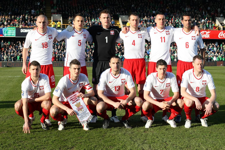Reprezentacja Polski w wyjazdowym meczu z Irlandią Północną.
